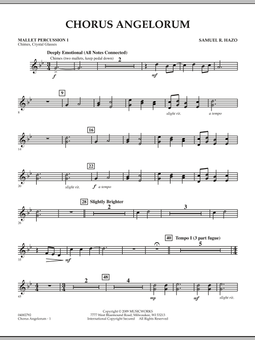 Chorus Angelorum - Mallet Percussion 1 (Concert Band)