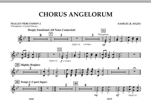Chorus Angelorum - Mallet Percussion 2 (Concert Band)