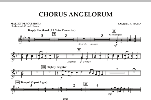 Chorus Angelorum - Mallet Percussion 3 (Concert Band)
