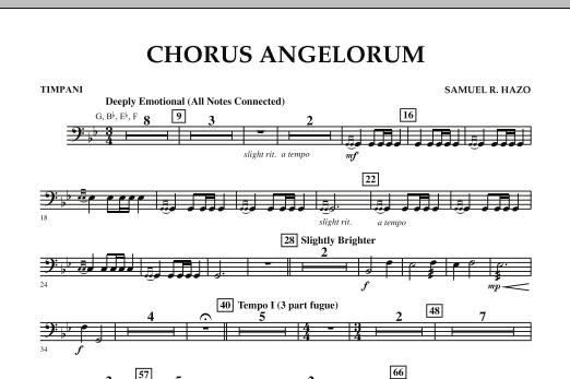 Chorus Angelorum - Timpani (Concert Band)