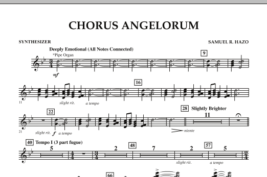 Chorus Angelorum - Synthesizer (Concert Band)