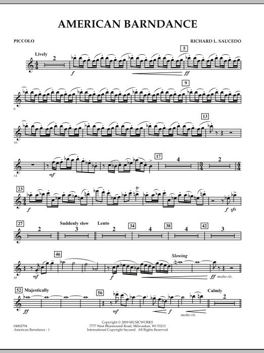 American Barndance - Piccolo (Concert Band)