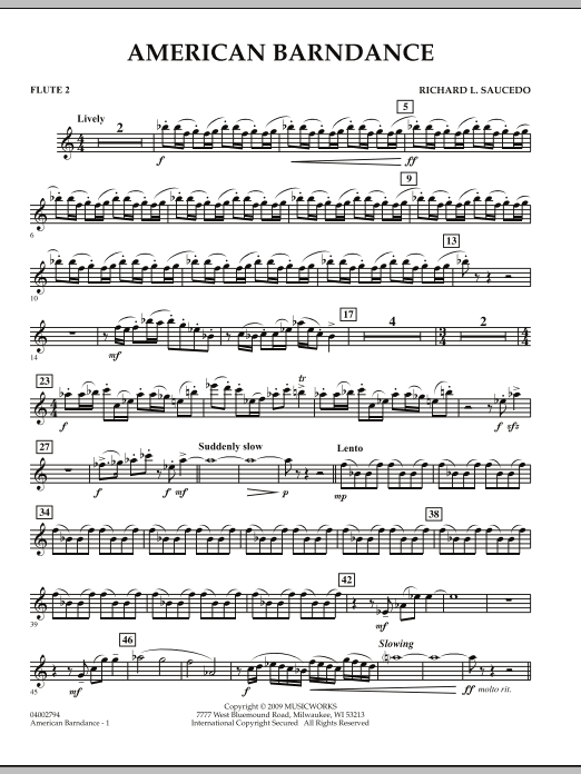 American Barndance - Flute 2 (Concert Band)