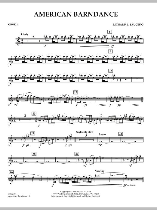 American Barndance - Oboe 1 (Concert Band)
