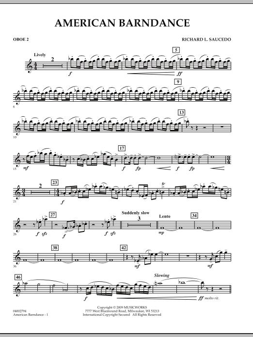 American Barndance - Oboe 2 (Concert Band)