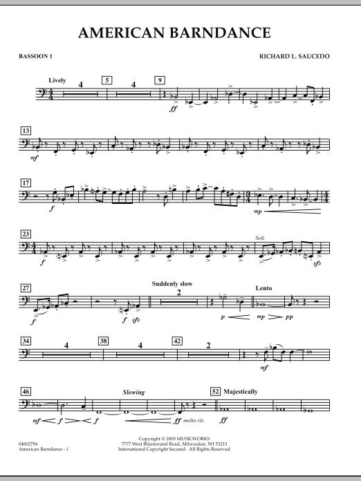 American Barndance - Bassoon 1 (Concert Band)