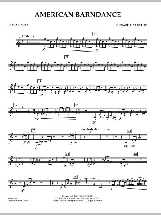 American Barndance - Bb Clarinet 2 (Concert Band)