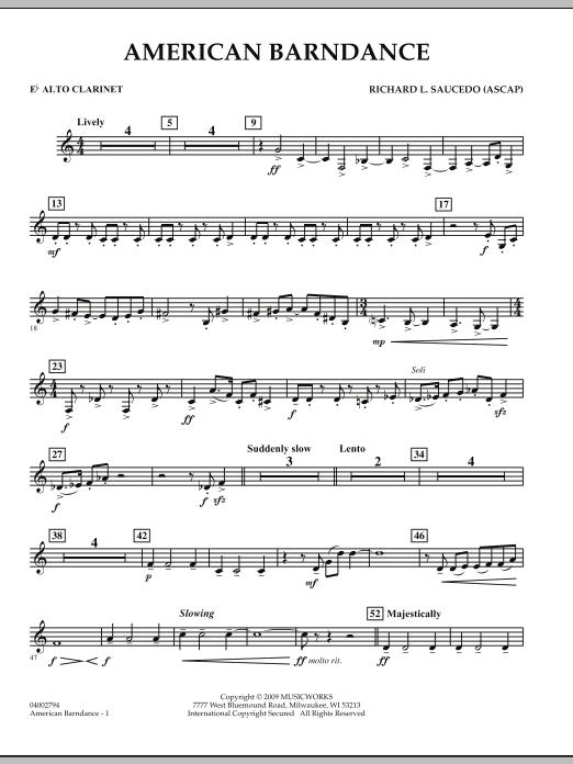 American Barndance - Eb Alto Clarinet (Concert Band)