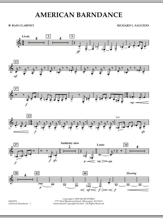 American Barndance - Bb Bass Clarinet (Concert Band)