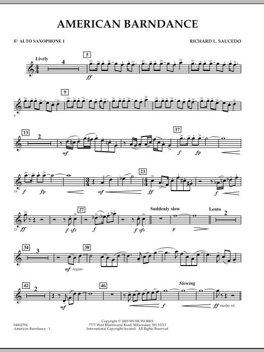 American Barndance - Eb Alto Saxophone 1 (Concert Band)