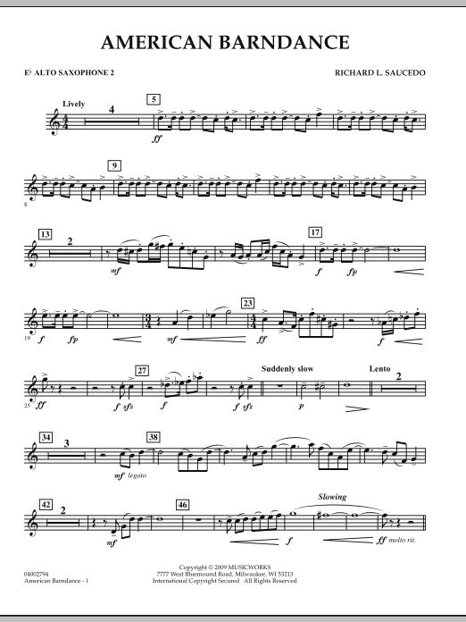 American Barndance - Eb Alto Saxophone 2 (Concert Band)