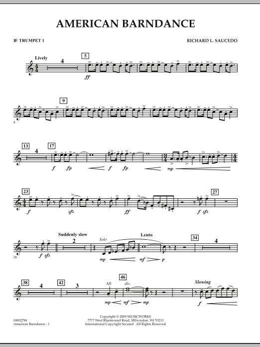 American Barndance - Bb Trumpet 1 (Concert Band)