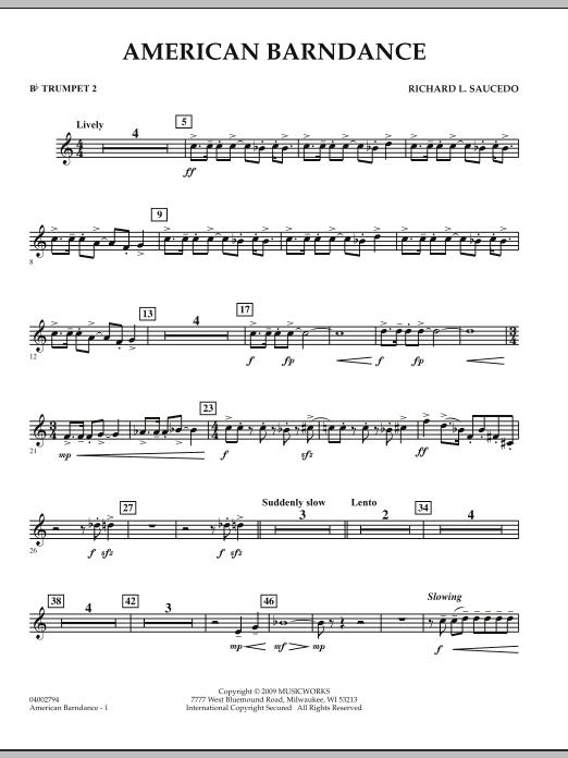American Barndance - Bb Trumpet 2 (Concert Band)