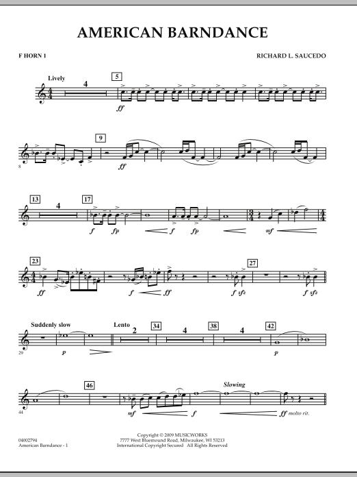 American Barndance - F Horn 1 (Concert Band)
