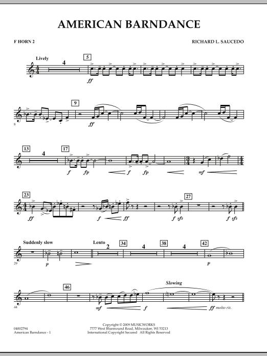 American Barndance - F Horn 2 (Concert Band)