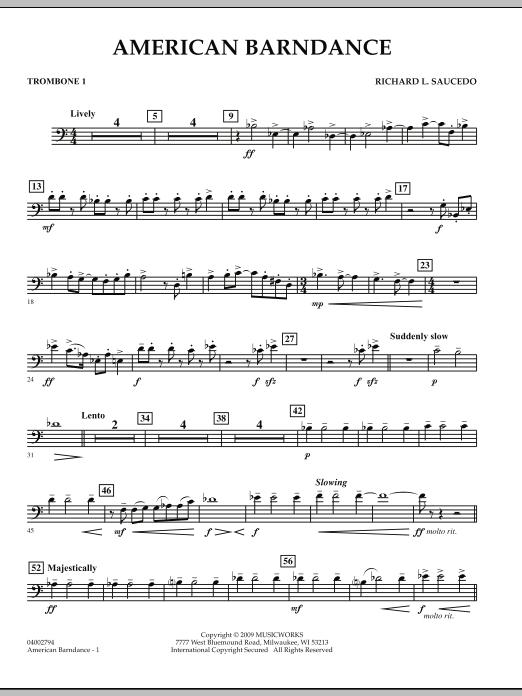 American Barndance - Trombone 1 (Concert Band)