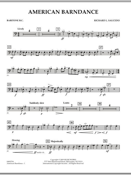 American Barndance - Baritone B.C. (Concert Band)