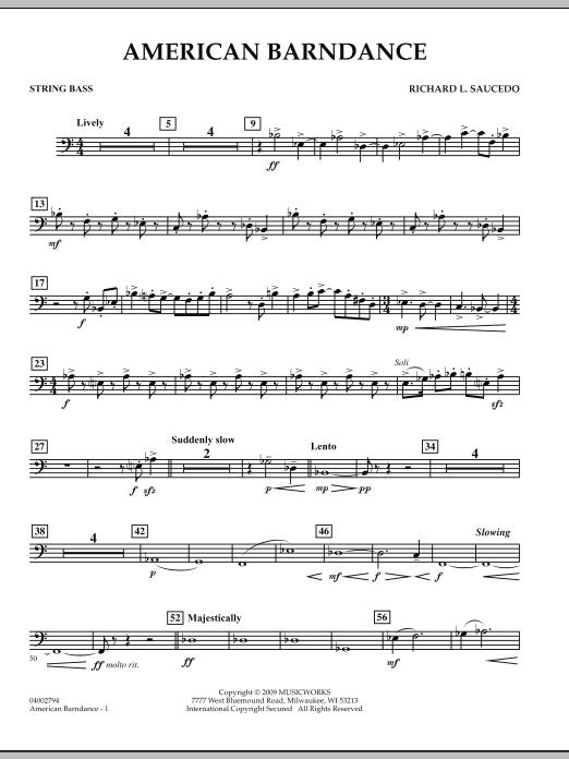 American Barndance - String Bass (Concert Band)