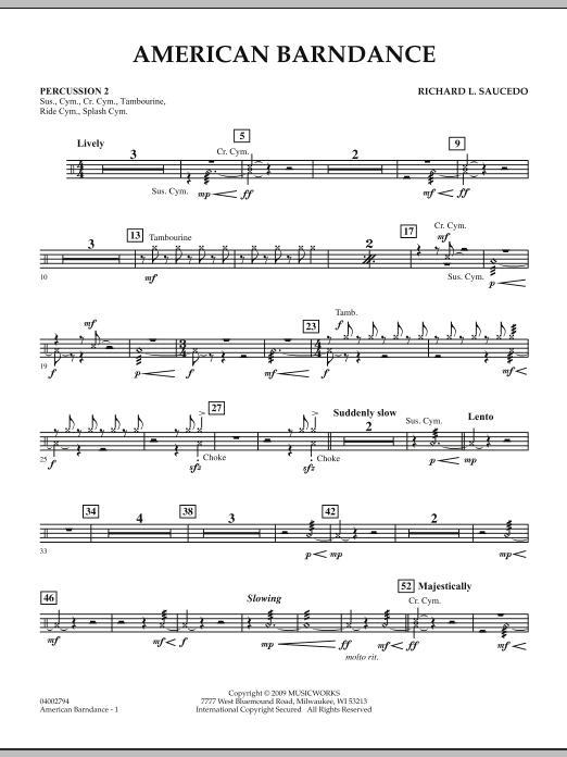 American Barndance - Percussion 2 (Concert Band)