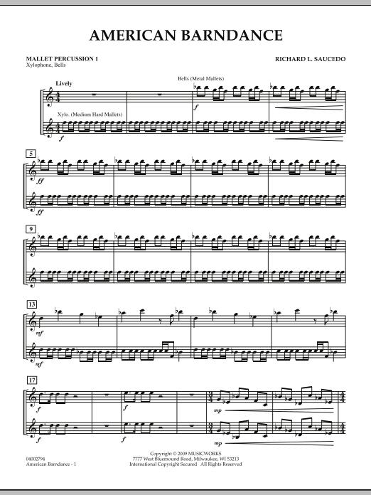 American Barndance - Mallet Percussion 1 (Concert Band)