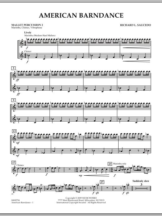 American Barndance - Mallet Percussion 2 (Concert Band)