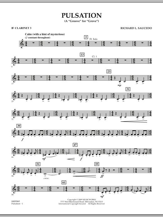 Pulsation - Bb Clarinet 3 (Concert Band)