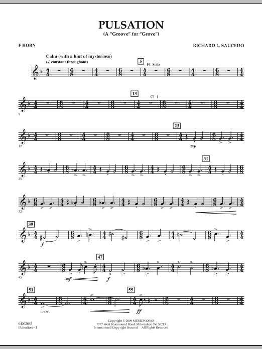Pulsation - F Horn (Concert Band)