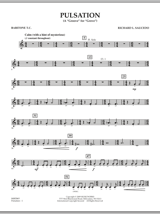 Pulsation - Baritone T.C. (Concert Band)