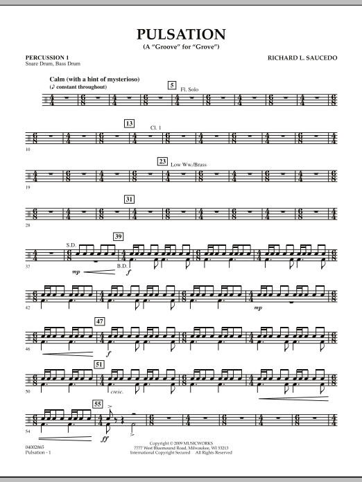 Pulsation - Percussion 1 (Concert Band)