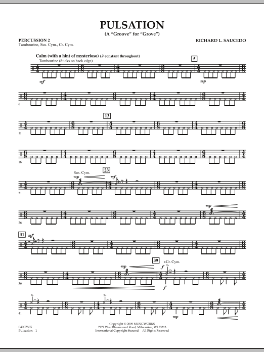 Pulsation - Percussion 2 (Concert Band)
