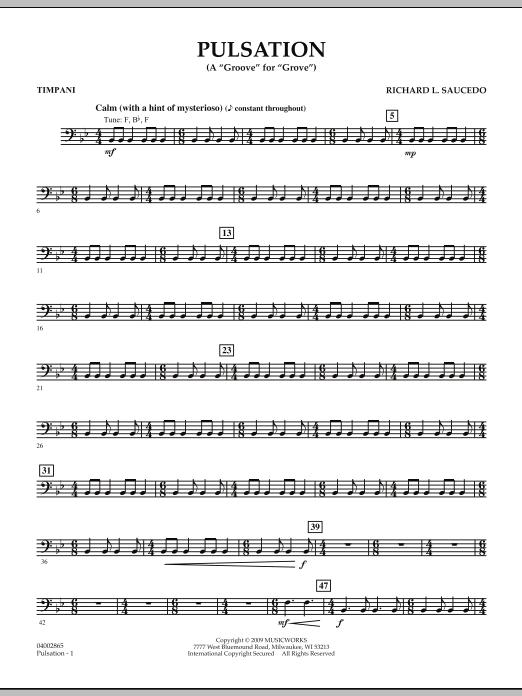 Pulsation - Timpani (Concert Band)