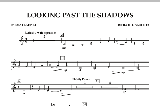 Looking Past the Shadows - Bb Bass Clarinet (Concert Band)