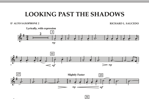 Looking Past the Shadows - Eb Alto Saxophone 2 (Concert Band)