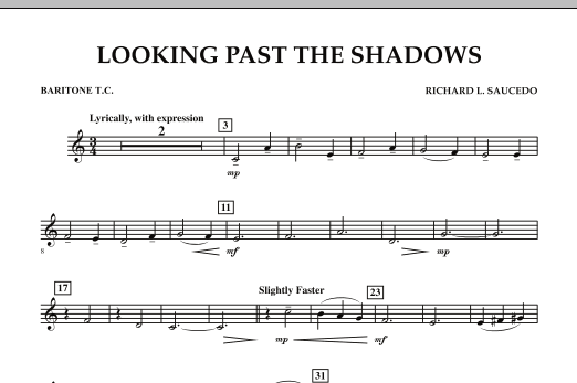 Looking Past the Shadows - Baritone T.C. (Concert Band)