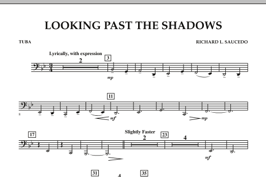 Looking Past the Shadows - Tuba (Concert Band)