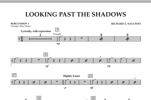 Looking Past the Shadows - Percussion 1 (Concert Band)