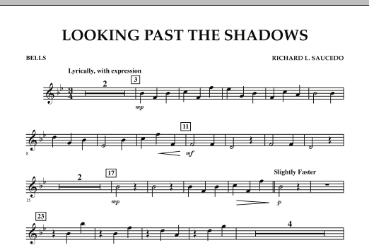 Looking Past the Shadows - Bells (Concert Band)