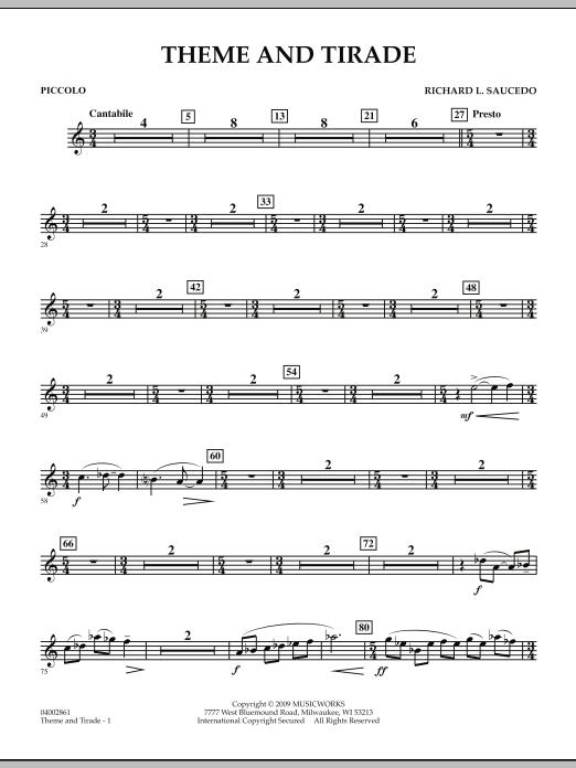 Theme and Tirade - Piccolo (Concert Band)