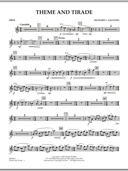 Theme and Tirade - Oboe (Concert Band)