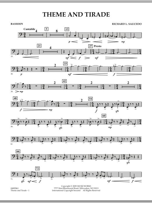 Theme and Tirade - Bassoon (Concert Band)