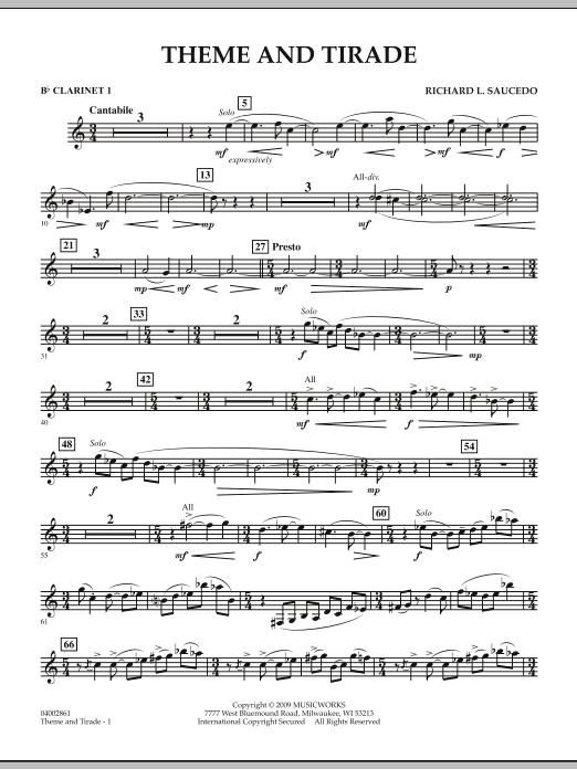 Theme and Tirade - Bb Clarinet 1 (Concert Band)