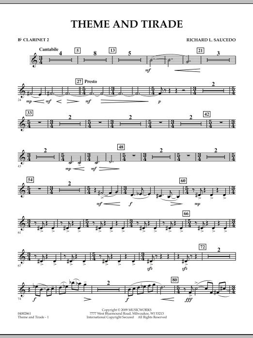 Theme and Tirade - Bb Clarinet 2 (Concert Band)