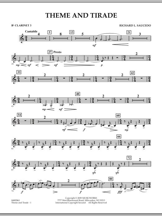 Theme and Tirade - Bb Clarinet 3 (Concert Band)