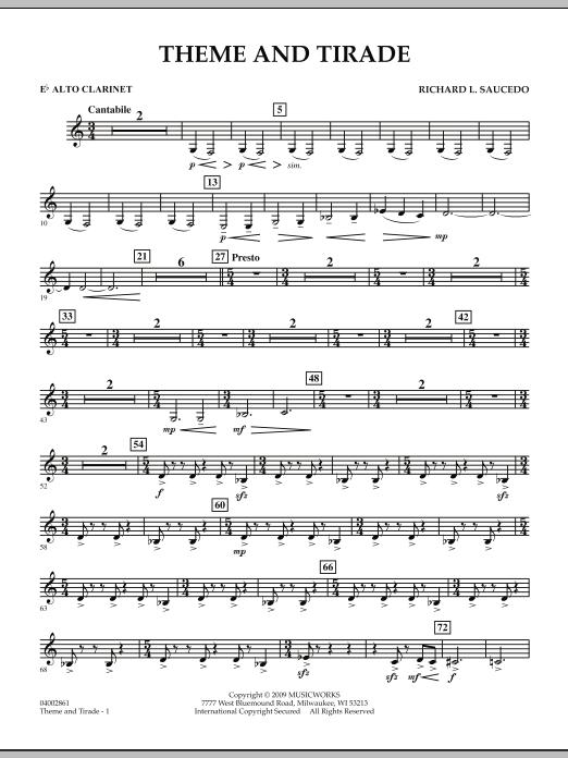 Theme and Tirade - Eb Alto Clarinet (Concert Band)
