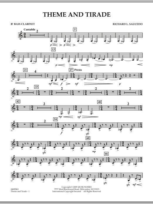 Theme and Tirade - Bb Bass Clarinet (Concert Band)