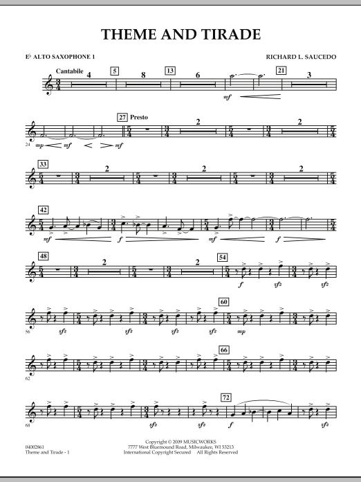 Theme and Tirade - Eb Alto Saxophone 1 (Concert Band)