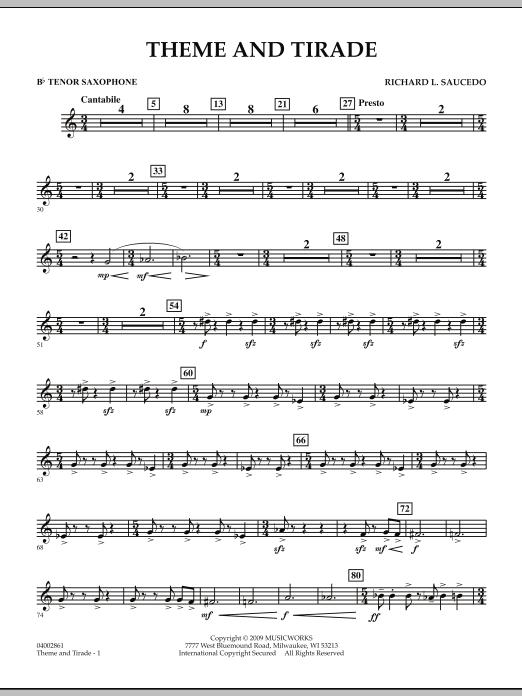 Theme and Tirade - Bb Tenor Saxophone (Concert Band)