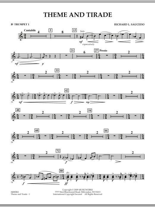Theme and Tirade - Bb Trumpet 1 (Concert Band)