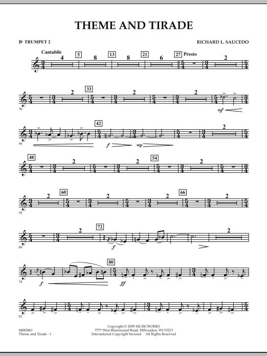 Theme and Tirade - Bb Trumpet 2 (Concert Band)