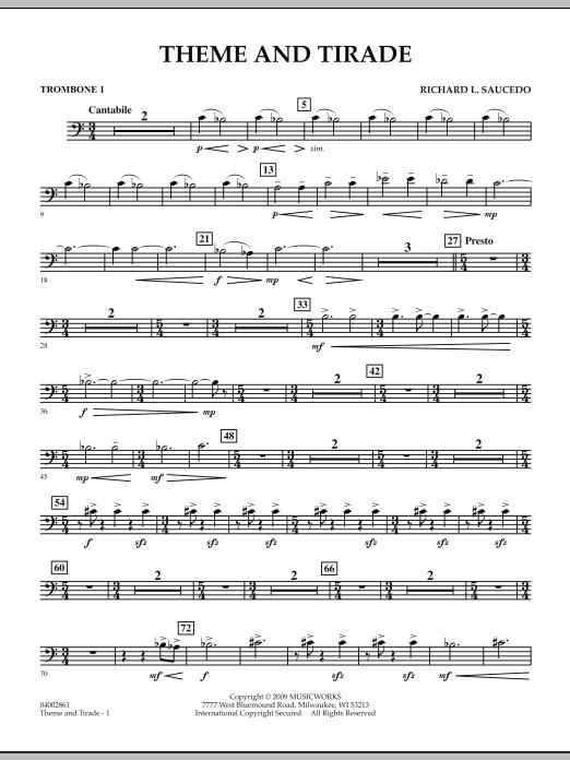 Theme and Tirade - Trombone 1 (Concert Band)